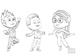 Confidential Pj Masks Coloring Pages Best Of Deenbeazoo Free Book