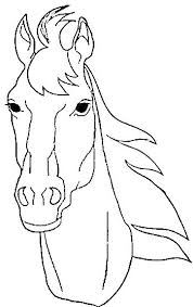 Free Horse Head Coloring Pages Realistic Page
