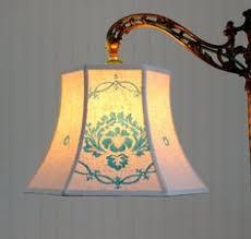 Uno Lamp Shade Adaptor by Damask Lamp Shade Vintage French Scalamandre Bell Lamp Shade