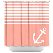 Artistic Shower Curtains by Organic Saturation Coral Love Anchor