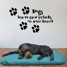 Free Shipping Ebay Hot Dogs Leave Paw Prints On Your Heart Decorative Wall Art Mural Decal