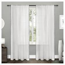Target Gray Sheer Curtains by 96 Inch Sheer Curtains Target
