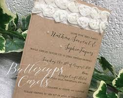 Rustic Wedding Invitation Recycled Shabby Chic Kraft