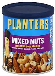 Planters Mixed Nuts 6 5 oz Nutrition Information