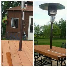 Garden Treasures Patio Heater Troubleshooting by Fix A Broken Patio Heater My Base Was Made Of Thin Metal Which