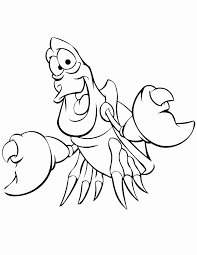 Kawaii Mermaid Coloring Pages Little Sebastian The Crab