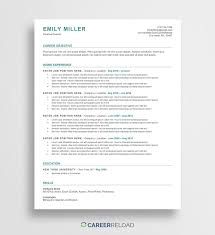 Free ATS Resume Template - Emily - Career Reload Resume Templates 2019 Pdf And Word Free Downloads For Download Now Builder 36 Craftcv 30 Google Docs Downloadable Pdfs Mariah Hired Design Studio Onepage 15 Examples To Use 20 Create Your In 5 Minutes Functional Template Complete Guide 3 Actually Localwise Basic Professional Venngage Blue Grey Resume Modern Cv Group Board