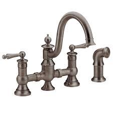 Moen Brantford Kitchen Faucet Oil Rubbed Bronze by Moen Waterhill 2 Handle High Arc Side Sprayer Bridge Kitchen