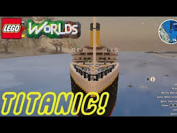 lego worlds sinking the titanic lego worlds pinterest