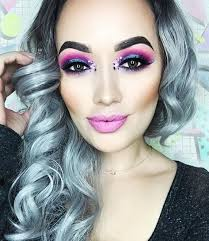 Aileensgmakeup Is Wearing Glitter Lambs My Unicorn Friends With The Boogie Man Pink Eyes
