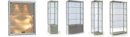 aluminium display cabinets with lights ideashowcases co uk
