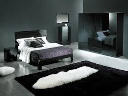 Black Bedroom Design Ideas And Silver Simple