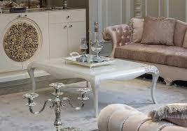 casa padrino luxus barock couchtisch weiß beige 128 x 94 x h 45 cm eleganter massivholz wohnzimmertisch im barockstil barock möbel