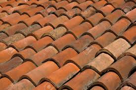 a clay tiled roof in italy stock photo picture and royalty free