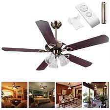 Ceiling Fans With Lights And Remote Control by 52