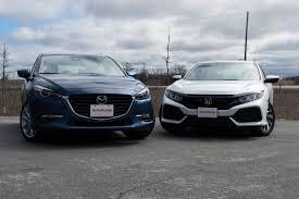 si e auto 3 ans 2017 mazda3 vs honda civic hatchback autoguide com