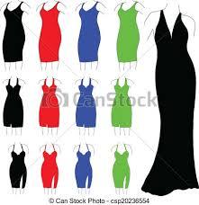 Womens Formal Dresses Vector