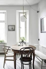 Small Round Kitchen Table With One Bench Seat And Two Chairs