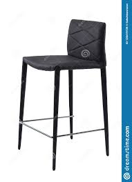 High Chair With Black Texture Of Rhombuses Isolated On A White ...