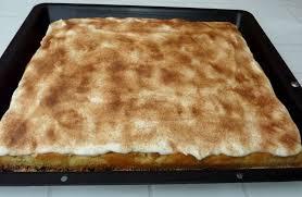 apfelkuchen vom blech mit schmand haube rezept