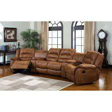 Darrin Leather Reclining Sofa With Console by Darrin Leather Sofa Weston Home Darrin Leather Reclining Sofa With