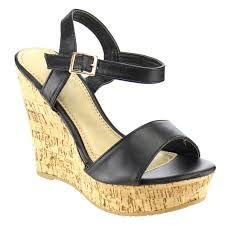 spirit moda women u0027s platform ankle strap high heel wedges sandals