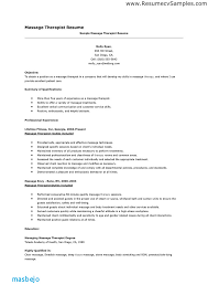 Massage Therapist Resume Examples Download Samples
