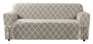 Sure Fit Stretch T Cushion Sofa Slipcover by Sure Fit Lattice Box Cushion Sofa Slipcover U0026 Reviews Wayfair
