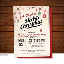 Personalised Christmas Party Invitations Drinks Work Dinner Secret