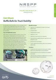 100 Balls For Truck NRSPP Australia NRSPP FACT SHEET Baffle For Stability