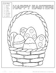 Easy Color By Number Worksheets M3604 It Easy Colour By Number