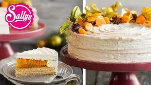 baumkuchen torte mit zimtcreme physalis sternanis