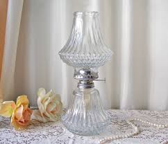 Oil Lamp Chimney Glass Replacement Canada by Vintage Oil Lamp Lamplight Farms Diamond Cut Oil Lamp