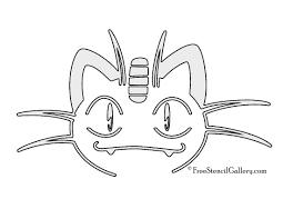Pikachu Pumpkin Template by Pokemon Meowth Stencil Free Stencil Gallery