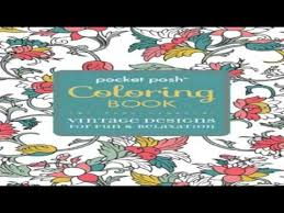 Pocket Posh Adult Coloring Book Vintage Designs For Fun Relaxation