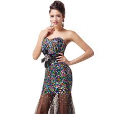 wholesale free shipping grace karin shining black sequins