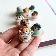 tea cup cat aliexpress buy 8pcs set lovely mini teacup cats model