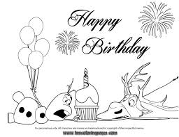 24 Best Disney Frozen Birthday Coloring Pages Images On Pinterest