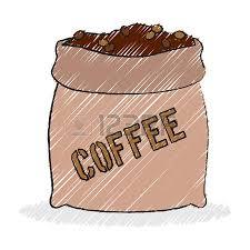 Burlap Sack Of Coffee Beans Vector