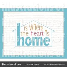 Royalty Free RF Home Is Where The Heart Clipart Illustration 1160253 By Elaineitalia