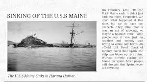 Pictures Of The Uss Maine Sinking by Sinking Of The U S S Maine