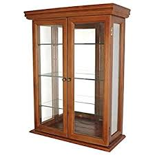 glass curio cabinets country tuscan wall mounted