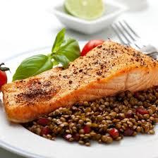 recette pavé de saumon aux lentilles