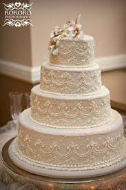 wedding cakes · no fondant all buttercream details I really love the traditional beautiful cream colored