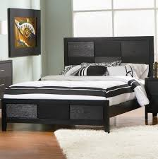 Black Leather Headboard Queen king size leather headboard and footboard home design ideas