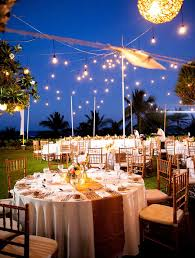 Gold Hues And Twinkle Lights Set The Scene For A Romantic Memorable Tropical Outdoor Wedding