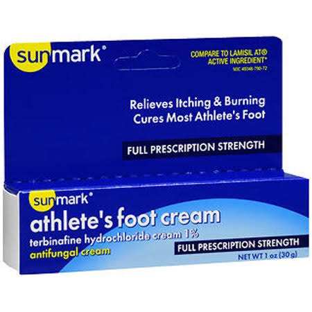 Sunmark Athlete's Foot Cream - Full Prescription Strength, 1 oz
