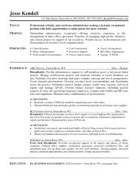Front Desk Receptionist Curriculum Vitae by Front Desk Resume Moa Format Templates Gym Receptionist Objective