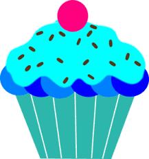 Blue Cupcake Clip Art