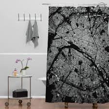 Black And White Flower Shower Curtain by Paris Shower Curtain Sets Wayfair